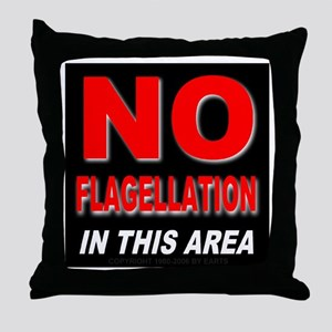 No Flagellation Throw Pillow